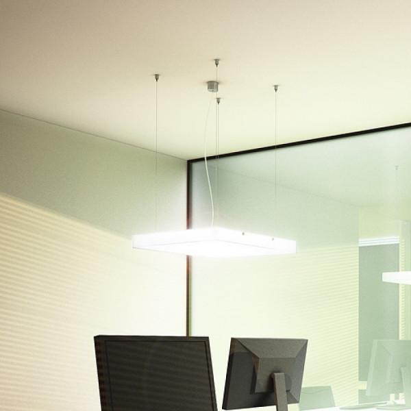 Structural 55 LED visilica satensko staklo 55x55 230V 2G11 3x36W