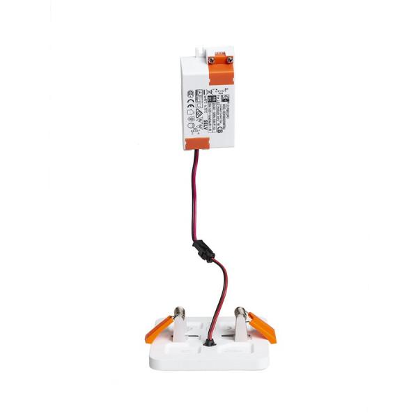 Ugradni LED PANEL Bjork SQ9 6W 640 lm Ra 80 3000K 230V Prilagodljiva dimenzija ugradnje