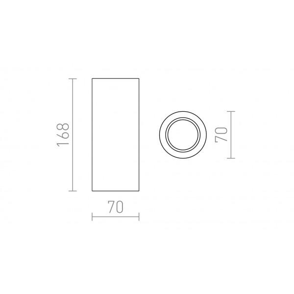 USMJERENA LED SVJETILJKA GU10 35W 230V GINA S 17 LED unutarnja rasvjeta R12354 Led žarulje - LED rasvjeta