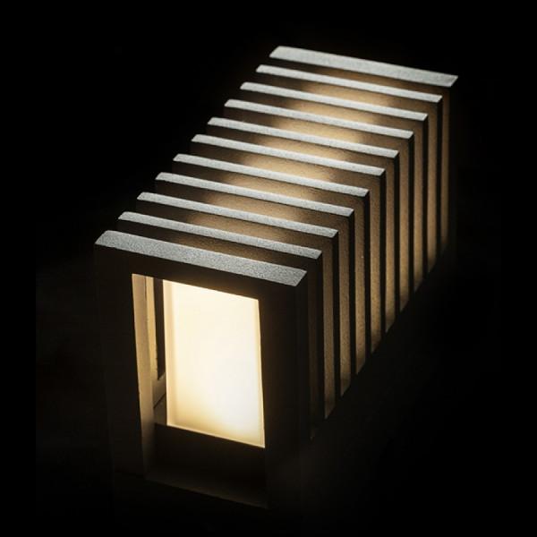 Vanjska LED zidna svjetiljka ClaireRC 6W IP54 3000K