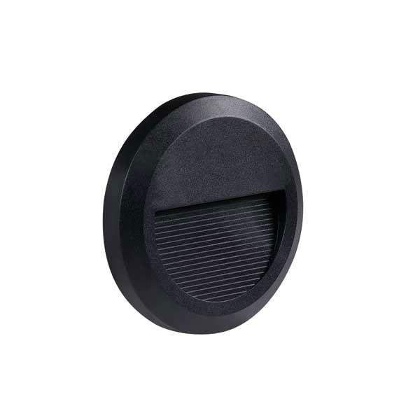 Vanjska zidna FASADNA LED SVJETILJKA okrugla 2W 80LM 230V IP65