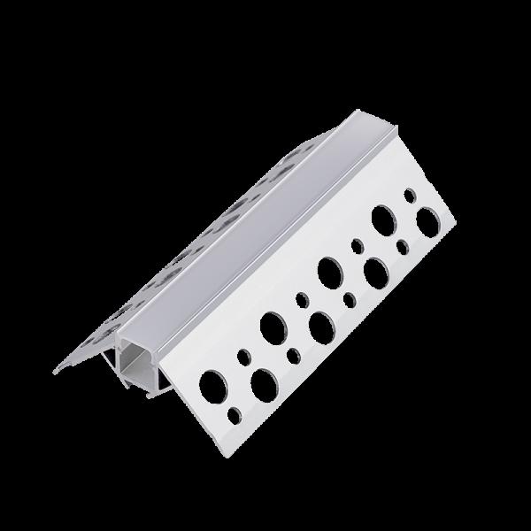 Vanjski kutni aluminijski profil za LED traku ugradbeni 2m